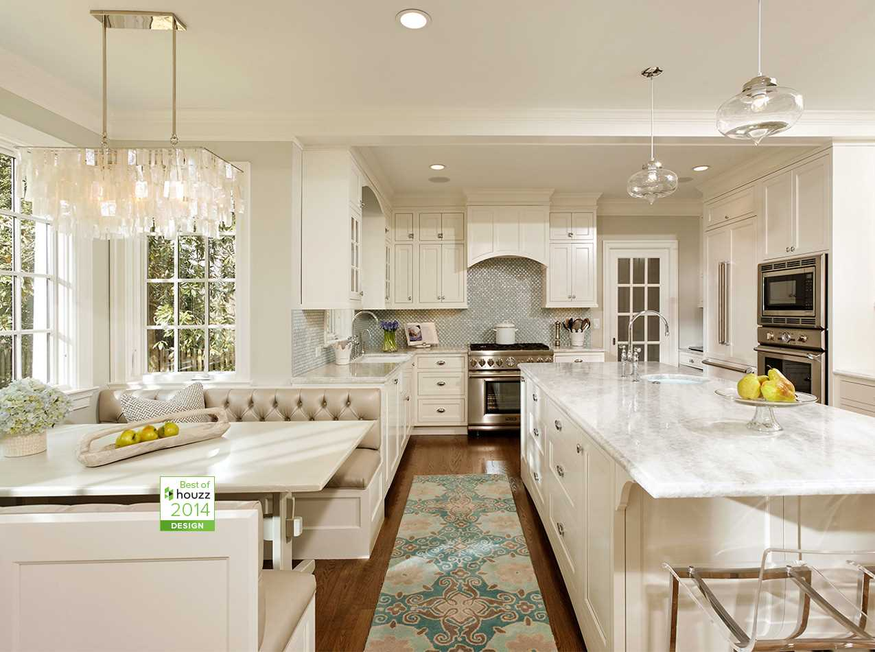 Alexandria, Va. U2013 This Beautiful Kitchen Boasts Hampshire Cabinetry, A  Custom Eat In Booth With Metallic Vinyl Cushions, White Princess Quartzite  ...